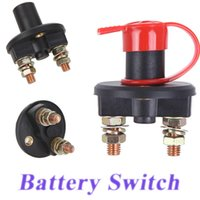 Wholesale Universal Car Truck Vehicle Battery Disconnect Cut Off Rotary Switch Brass Terminals