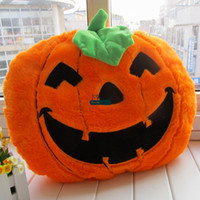 Wholesale Dorimytrader Novelty Toy cm X cm Soft Plush Cute Stuffed Big Pumpkin Pillow Toy Great Halloween Gift DY60678