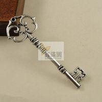 antique metal plate - pieces antique silver plated metal zinc alloy vintage style key pendant hd891
