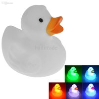 cheap 7 color changing small light mood lamp duck led toys for baby kids cheap mood lighting