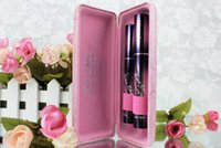 Wholesale Love Alpha Mascara Bling Bling Pink D Fiber Mascara Eyelash Grower Lash Extension Mascara set