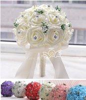 artificial flowes - Foam wedding bride bouquet artificial rose Lavandula accessories decorative flowes for wedding party decoration