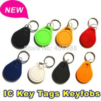 Wholesale 100pcs IC ID card key keychain Tags ic smart card access control ic card ic keychain access control machine card