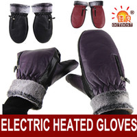 battery heated motorcycle gloves - Outdoor Men Women Winter Electric Heated Gloves Sking Bicycle Liners Motorcycle Full Hands Warm Gloves with Rechargeable Battery
