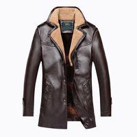 avirex pilot jacket - Fall New Winter Jacket Elderly Male Father Leather Fur Men s Jacket With Velvet Warm Coat Mens Sheepskin Jackets Avirex Pilot Jacket