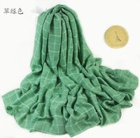 air conditioner check - Autumn And Winter Cotton Classic British Plaid Scarf Beach Towel Sunscreen And Air Conditioner Women s Shaw