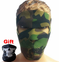 Wholesale Army Green Outdoor Sport Cycling Bicycle Balaclava Full Face Mask Hat Motorcycle CS Masks Helmets High Quality