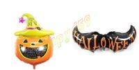 aluminum foil hat - Big size kid cartoon halloween magic pumpkin hat bat aluminum balloons child birthday party halloween decoration foil balloon