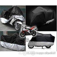 Wholesale 2015 NewBlack silver XXL Motorcycle Outdoor UV Protector Motorbike Rain Cover Waterproof A5
