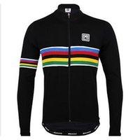 santini - 2015 santini Winter Thermal Fleece windproof sportswear long sleeve jersey cycling jacket mountain bike clothing