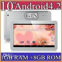 Cheap 20PCS 10 10.1 Inch Quad Core 3G Phablet Android 4.2 1GB RAM 8GB MTK8382 Quad Core 1.3Ghz GPS Bluetooth Dual Sim Card Tablet Phone PB10-6