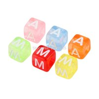 Wholesale Transparent mm Alphabet Letter Charms Pony Beads For Loom Bands Bracelet sale