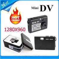 Wholesale New Design Digital Video Camera Smallest Mini DV With Powerful Functions Mini Spy Camcorder Supports Micro SD Card