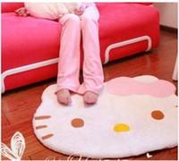 Wholesale High Quality Lovely Hello Kitty Big Head Fuzzy Floor Cushion Mat Pad bedroom Carpet Footcloth Rug