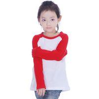 plain t shirts - Girls raglan long sleeve blank t shirt crochet baseball plain White tee shirt all for children s clothing and accessories