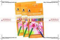 Wholesale Color Recycle color pencils kraftpaper box packed pro environment products