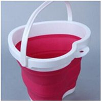 Wholesale Bucket for Fishing Promotion Folding Bucket Car Wash Outdoor Thick Silicone Fishing Supplies IC871590