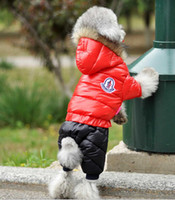Wholesale Cool Winter Coat For Dog - New Outdoor Pet Dog Clothes Winter Coat Cotton Warm Clothes For Dogs Cool Dog Clothing Fashion Big Or Small Pet Clothes free shipping