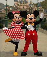 nuevos dibujos animados de Mickey Minnie Mickey Mouse dibujos animados traje de muñecas caminar de dibujos animados ropa para Muñecas desfile de moda de trajes (un par) mascota / 1 PCS
