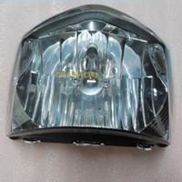 headlight assembly - Suzuki Junchi before QS125 A B C GT125 headlights illuminated glass lens assembly Authentic