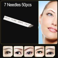 Wholesale 50pcs permanent makeup blade Manual eyebrow tattoo curved needles high quality Individually packed