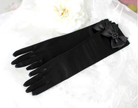Wholesale Hot Children Girls Show Accessories Girls Beaded Butterfly Finger Gloves Childs Bowknot Mittens Kids Wedding Party Accessories Black M1742