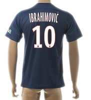 Wholesale 2015 home IBRAHIMOVIC Soccer Jersey Thai Quality Customized Cheap New Soccer Wear tops Football Jerseys tops