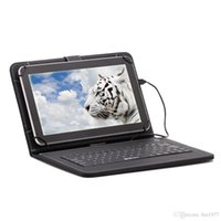 Wholesale 10 quot Inch Tablet Quad Core Tablets Android Tablets PC MTK8127 Dual Camera G G G HDMI GPS Bundle Keyboard