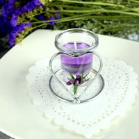 Wholesale Heart shaped Stainless Steel wedding candle holder Matching Cup Candle Stand Party Valentine s day Favors Candlestick Candelabra