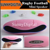 Cheap 2014 cheapest Rugby Bluetooth speaker Portable soccer football shape Subwoofer Wireless Outdoor Amplifier HIFI for iPhone 6 B