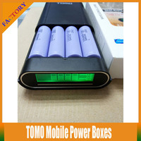 Wholesale 10PCS TOMO V8 Mobile Power Bank Boxes Slot Battery Charger For x VTC3 VTC4 VTC5 AW Battery For Samsung S4 S5 Phones