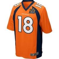 Wholesale 2016 Super Bowl jersey Broncos Manning Orange blue orange Jerseys
