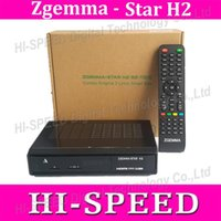 Wholesale 2pcs Best selling product in Italy Zgemma Star H2 Enigma2 Combo DVB S2 T2 C Satellite Receiver with SAM A DVB T Tuner free ship