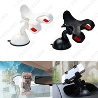Wholesale 20pcs Degrees Auto Windshield Dual Clip Mount Holder Stand Bracket For iPhone5S Plus