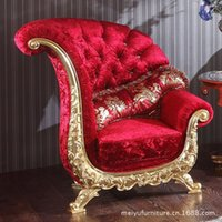 Wholesale Continental red fabric sofa armchair KTV store personalized image sofa chairs wedding sofa Chair