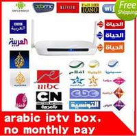 Wholesale Remote Control Free Europe IPTV Box Plus IPTV Arabic Channel TV Box Android WiFi HDMI Smart Android Mini PC TV Box MS036