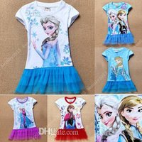 Cheap Frozen clothing girls clothes kids dresses elsa dresses elsa costume children clothes tutu skirts elsa tutu dresses Free shipping