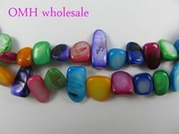 Wholesale OMH mm colors Mixed DIY Craft Jewelry Accessories candy color flat irregular shell Beads PJ360