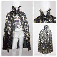 Wholesale Spot gold and silver pirate Halloween costumes Halloween witch costume cloak children general section