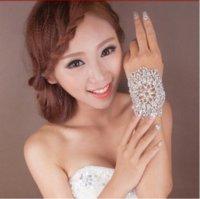 armlets - Hot sale Bridal Bracelet clear crystal hand cuff multi fuction rhinestone bridal Armlets wedding accessories XI10 accessories vogue