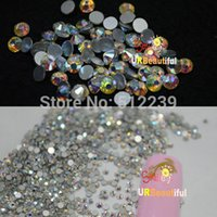 ab lights - 1440pcs AB Color size to choose Nail Art Flat Back Acrylic Gems Rhinestones d Nail Art Decorations Cell phone Stickers NAO32