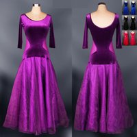 ballroom dresses - 2015 Dress For Ballroom Dancing Purple Blue Black Red Vestido De Formatura Standard Ballroom Dress Waltz Tango Fox Trot Jigs Dresses DQ5037