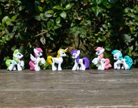 Wholesale My Little Pony Necklace Keyring Keychain pendant my little pony toy cm inch resin material hand painting