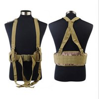 belt with suspenders - Typhon Mandrake Highlander Paintball Molle Tactical Airsoft combat Waist Padded Belt with H shaped Suspender Adjustable Nylon Cummerbunds