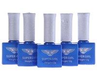 Wholesale 12ml Top Coat Base Coat Primer Color Polish Nail Art UV Gel Kit Soak off Polish UV lamp Glitter