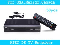 Wholesale 50pcs ATSC TV BOX Mexico USA Canada ATSC HD TV Receiver Full HD p Digital TV Converter Box