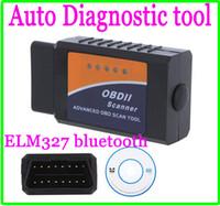 Wholesale Mini ELM ELM327 bluetooth OBD OBD2 OBDII Protocols Auto Car Diagnostic Interface Scanner tool code reader on Android Windows