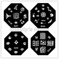 Wholesale 30pcs QA Series octagon Stainless Steel Image Plate Nail Art Stamp Plate Template