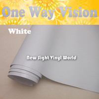 solvent film - Printable White One Way Vision Vinyl Film One Way Vision Window Film For ECO Solvent Printer Size x50M Roll