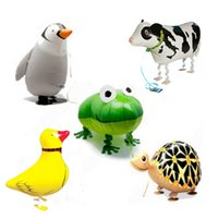 balloon panda - 150pcs Walking pet ballons animals Duck Panda balloons inflatable toys for kids party decorations children christmas gift HX